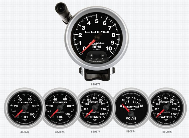 AutoMeter COPO Camaro Gauges