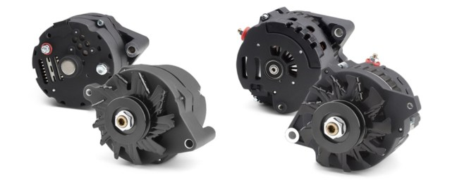 PROFORM Black Crinkle Alternators for Ford 10SI and GM CS130 Cases
