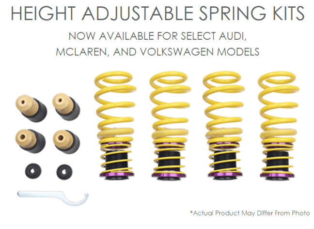 KW Suspensions Height Adjustable Spring Kits