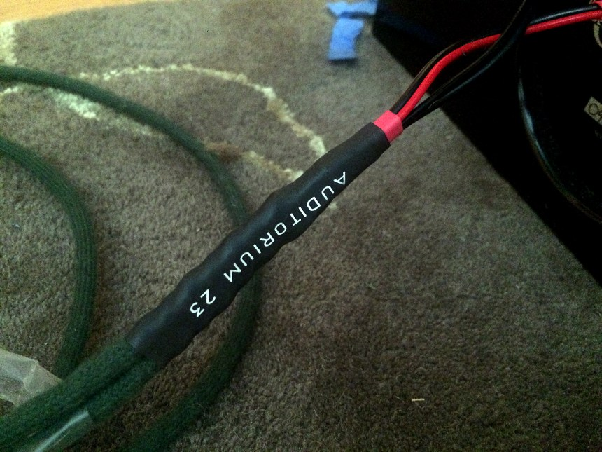 Auditorium 23 speaker cables