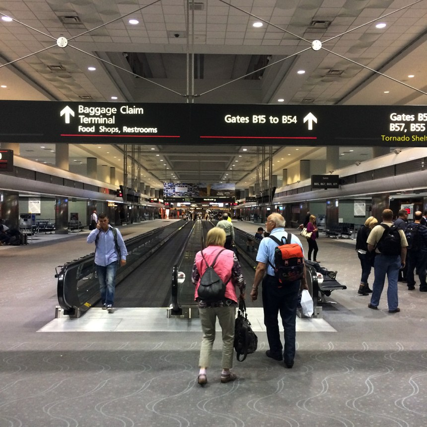 Denver Airport goes on forever... where's a Segway when you need one.