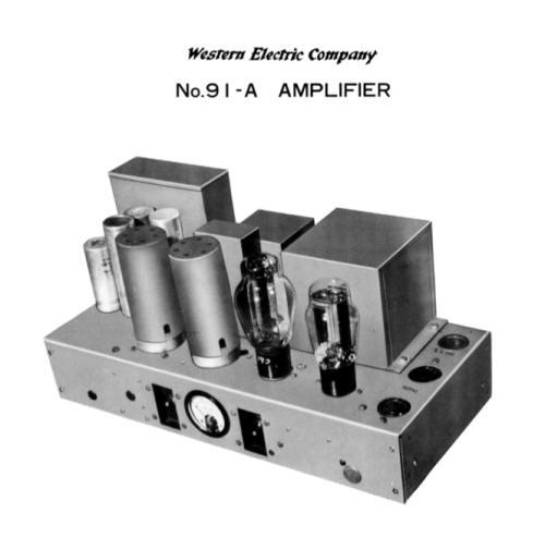 3 WE 91-A amp