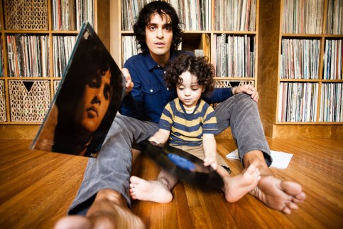 Eothen Alapatt, better known as Egon, a vinyl record collector, writer and music journalist from Los Angeles, CA photographed with his vinyl collection at his home for Dust & Grooves. © Copyright - Eilon Paz - www.dustandgrooves.com