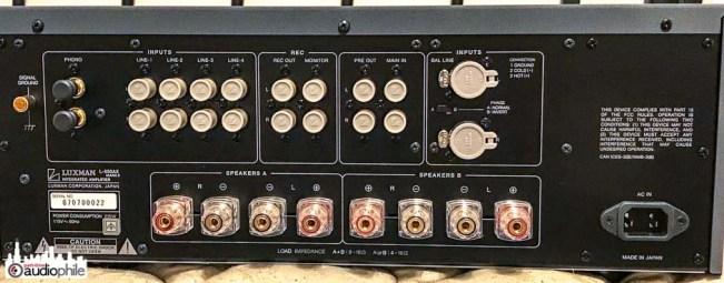 Luxman L-550AXII rear