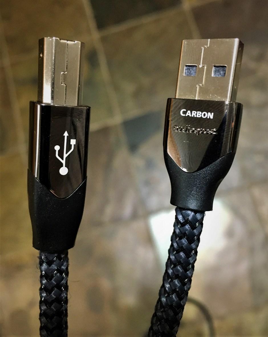 AudioQuest Carbon USB cable.