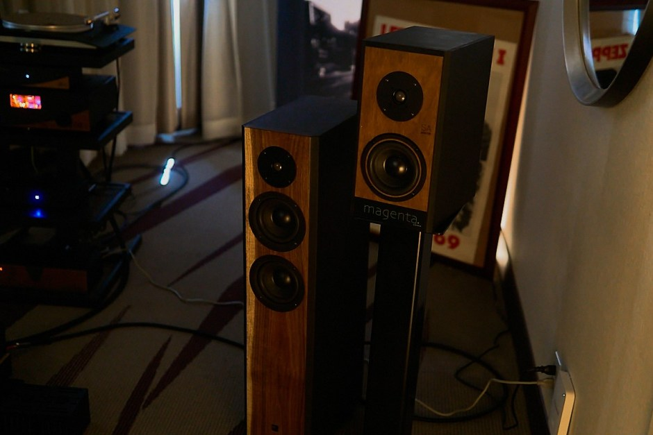 magenta line of loudspeakers from margules