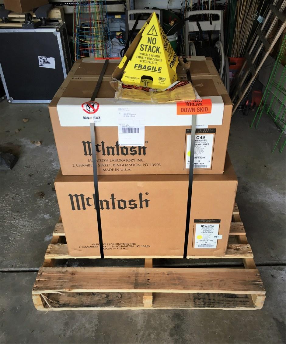 massive shipment of amps in graig neville's garage
