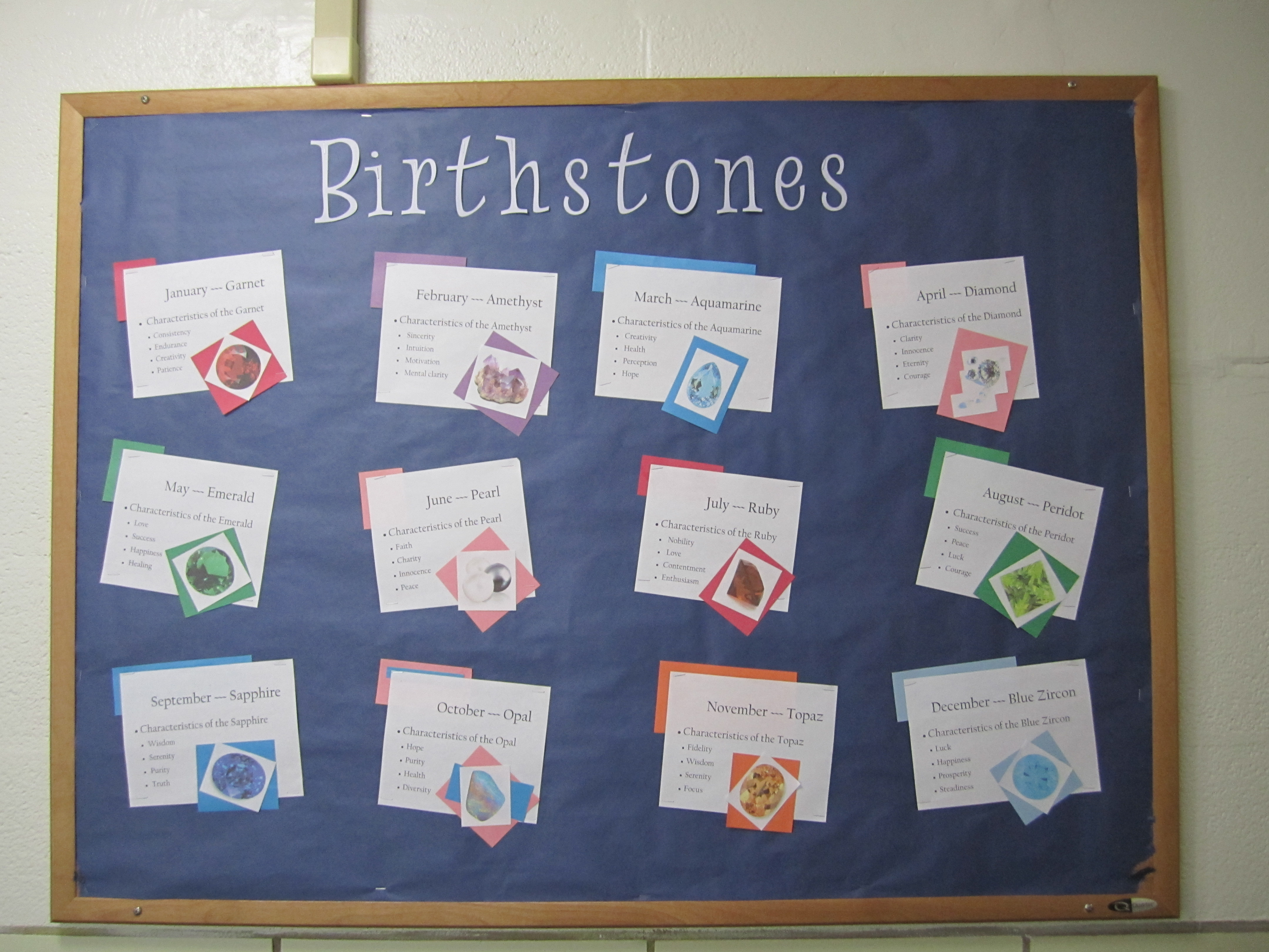 Bulletin Board Birthstones Part Time Human Being