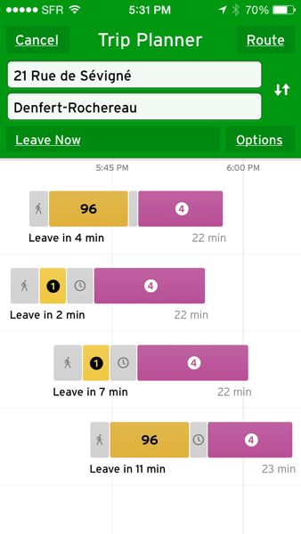 Transit trip planner