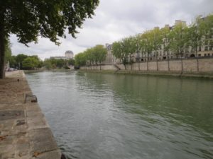 End of the line - the bank of the Seine, with Île Saint-Louis in the background