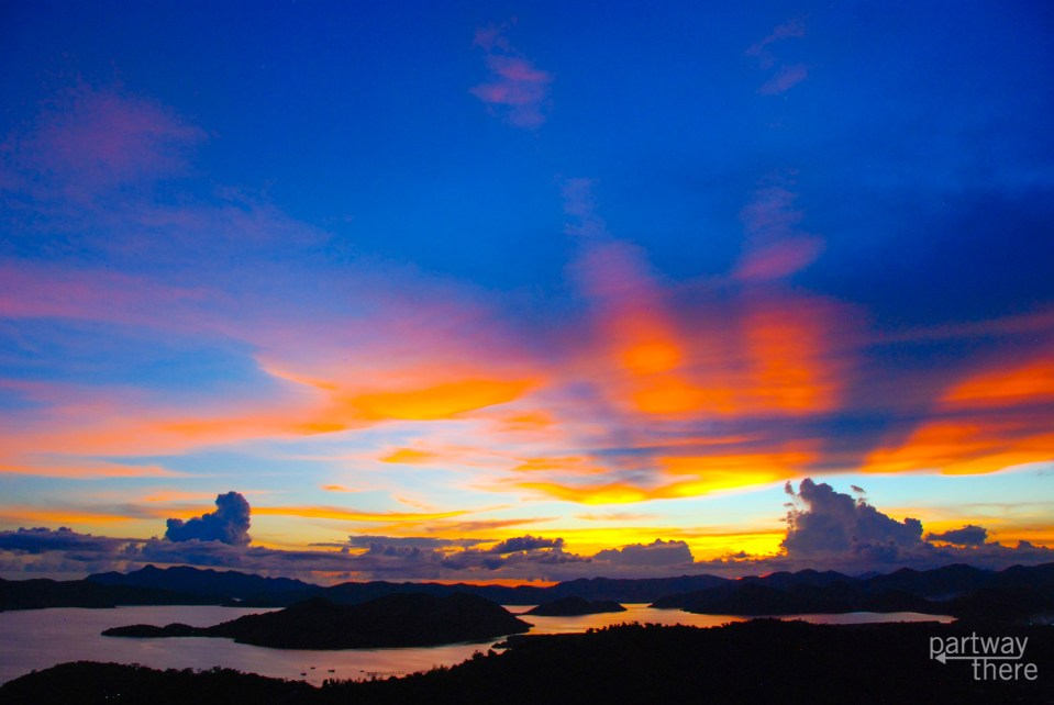 Sunset from Mt Tapyas in Coron, Philippines