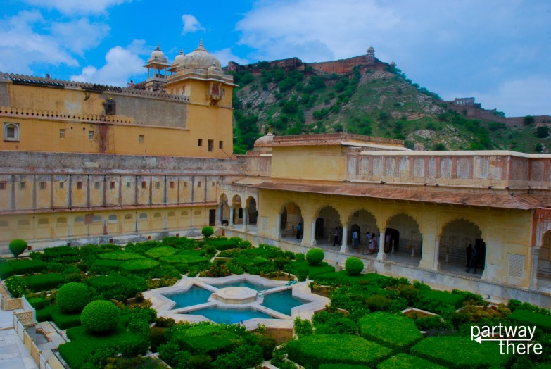 Women's gardens at the Amber Fort in Jaipur