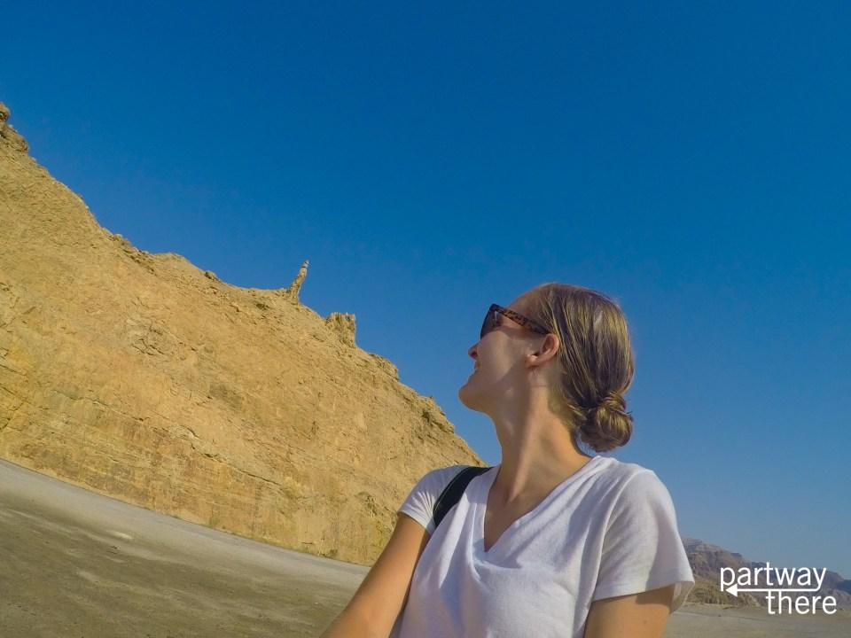 Amanda Plewes at Lot's Wife near the Dead Sea