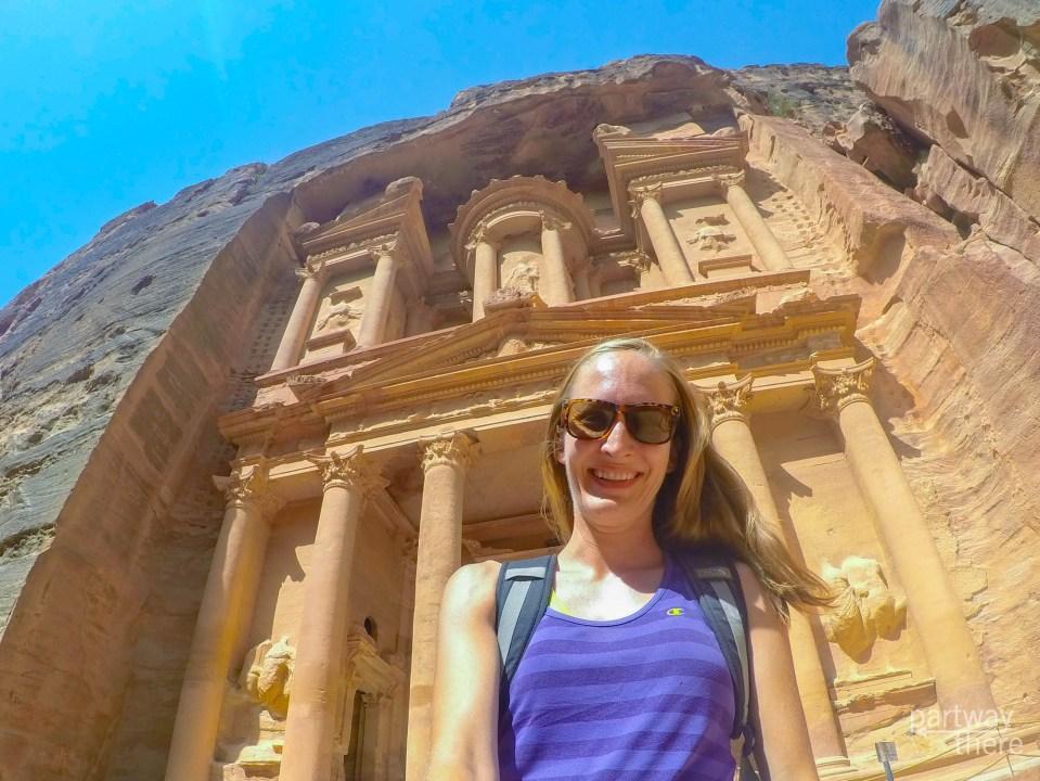 Amanda Plewes in Petra, Jordan