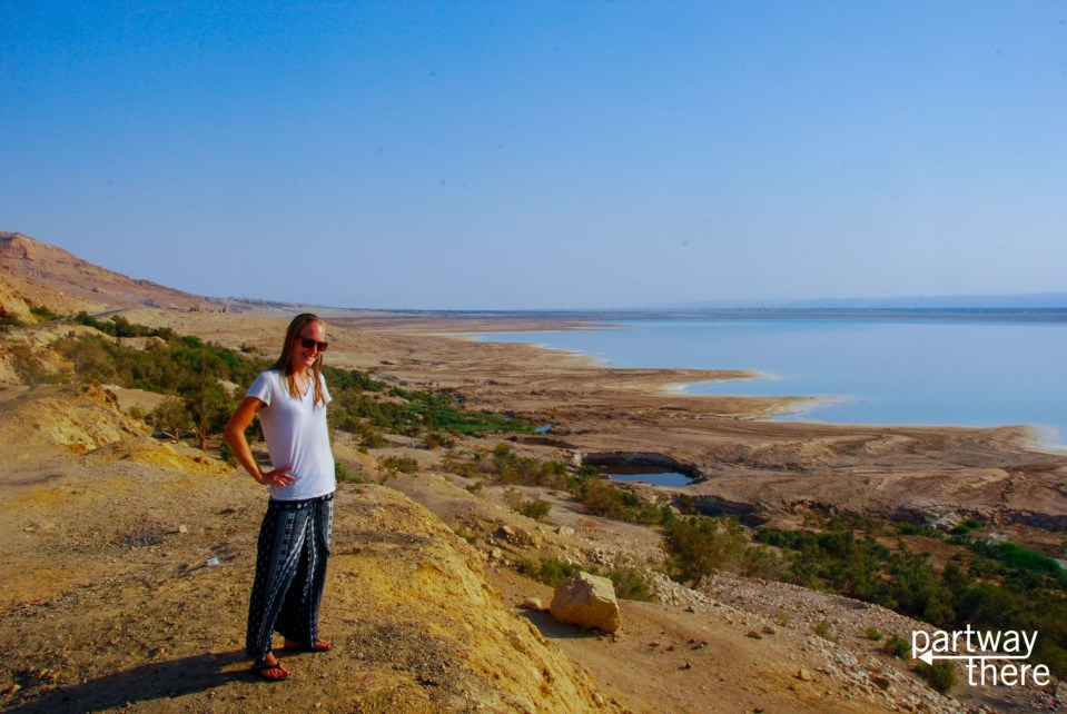 Amanda Plewes at the Dead Sea in Jordan