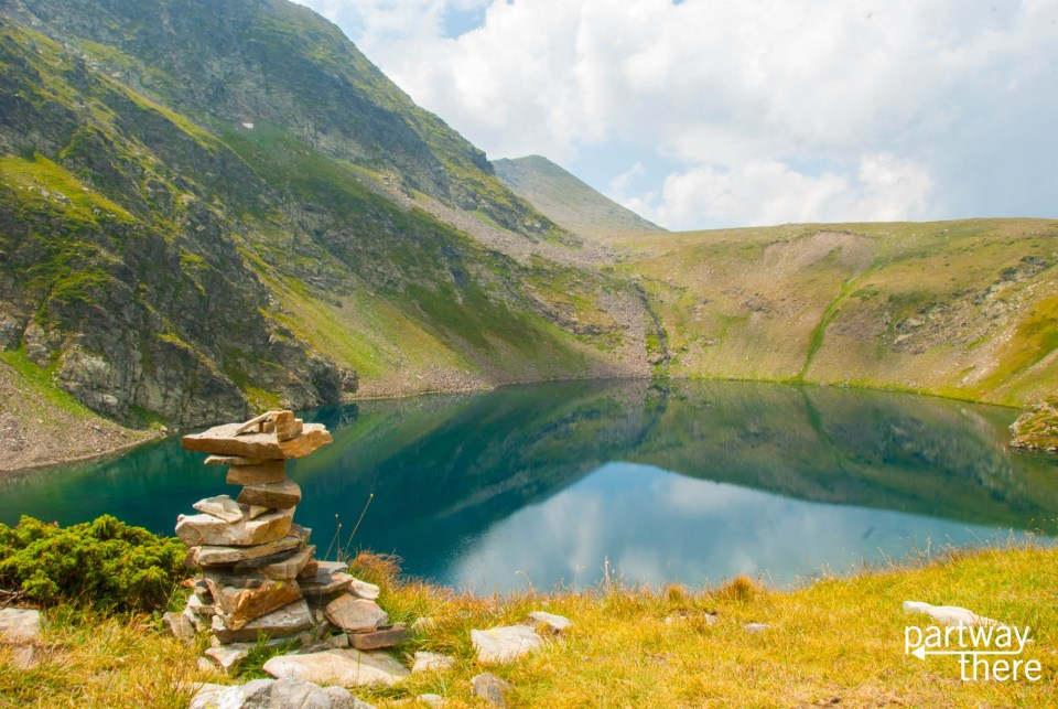 A rock cairn at Seven Rila Lakes