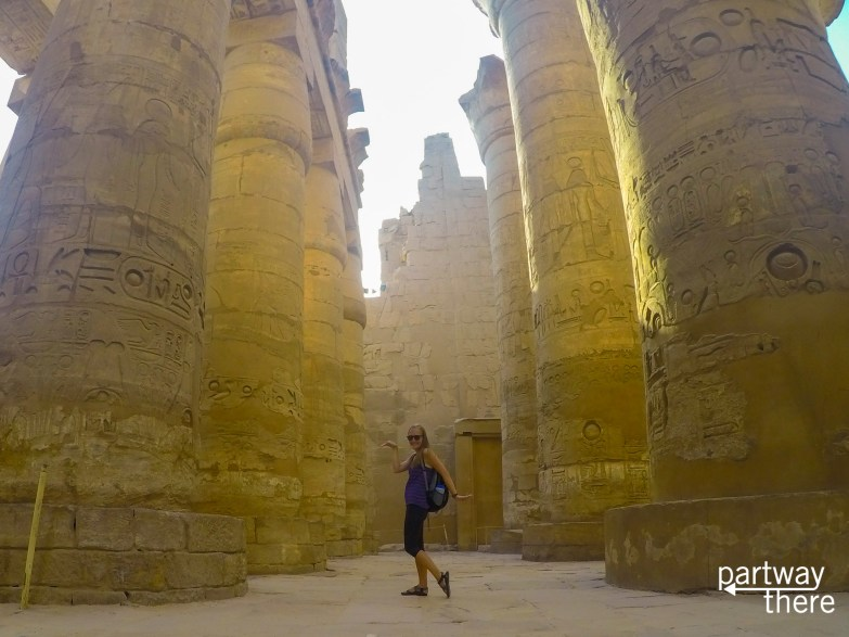 Amanda Plewes at Karnak Temple in Luxor Egypt
