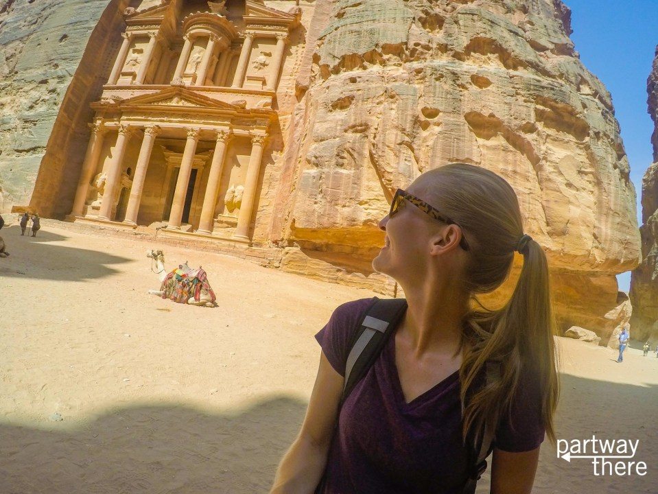 Amanda Plewes at the Petra Treasury