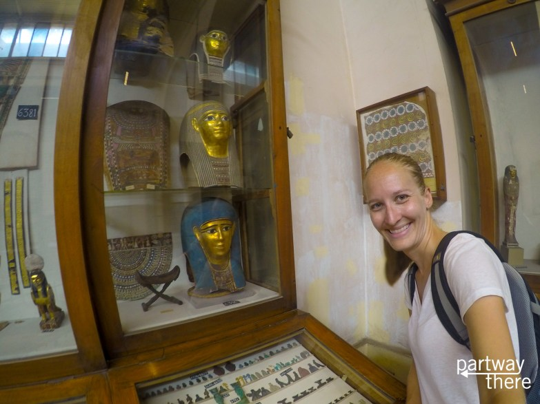 Amanda Plewes at the Egyptian Museum in Cairo, Egypt