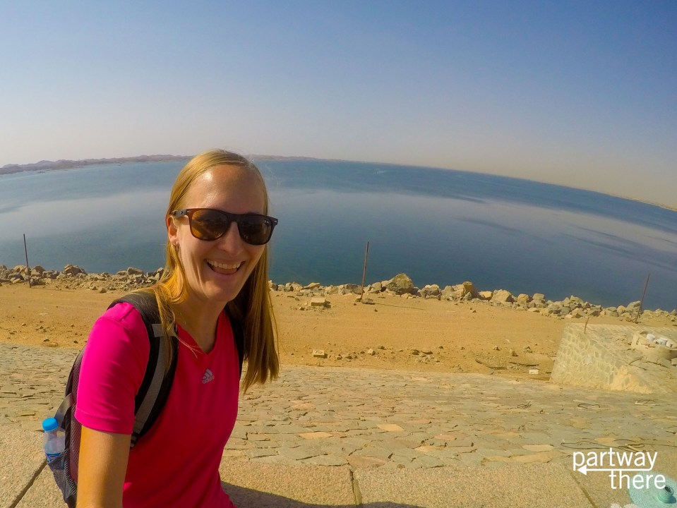 Amanda Plewes at the High Dam of the Nile