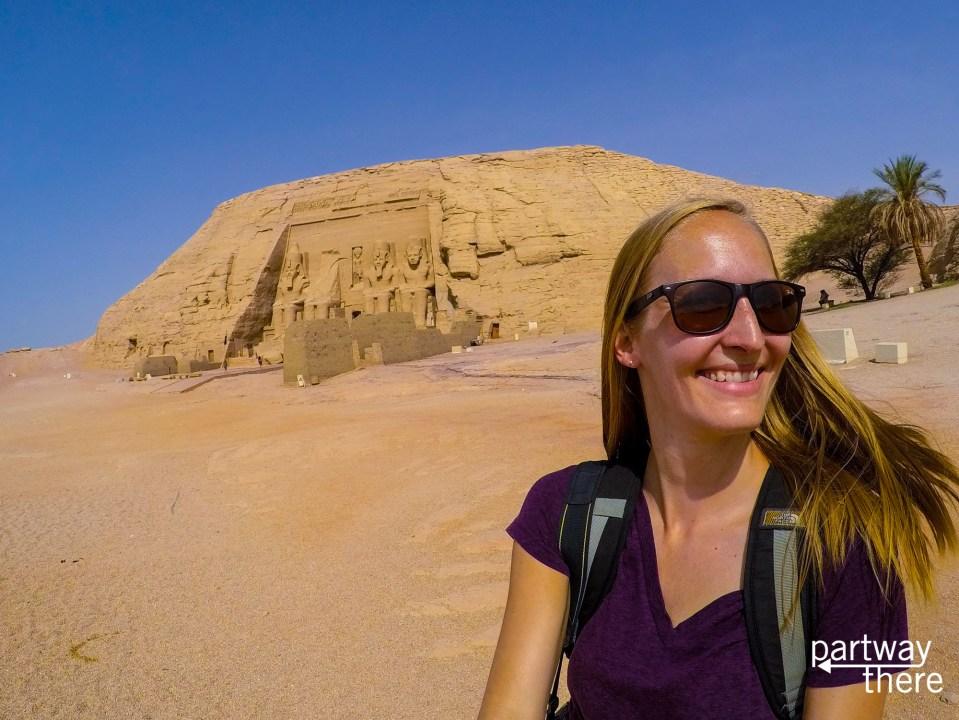 Amanda Plewes at Abu Simbel in Egypt