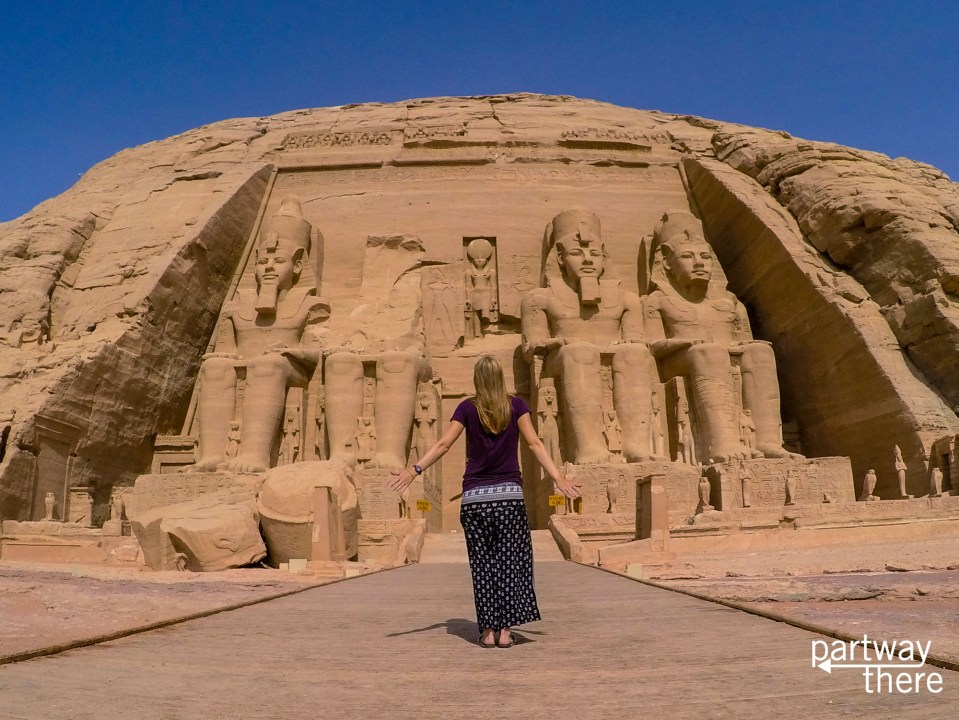 The Great Temple to Ramses II at Abu Simbel in Egypt