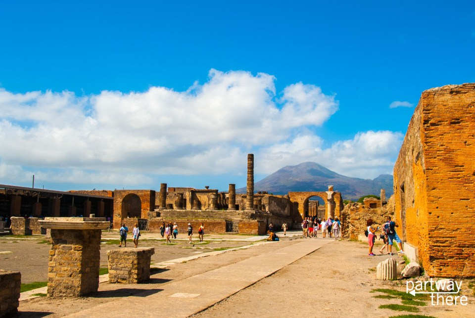Mount Vesuvius over Pompeii