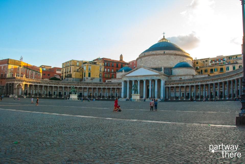 Naples Basilica near sunset