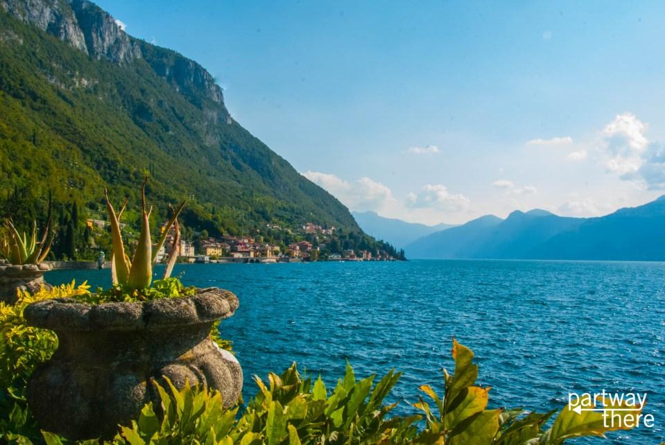 lake como from villa monastero