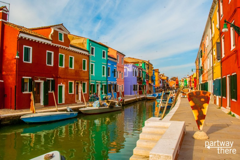 A street in Burano, Venice, Italy