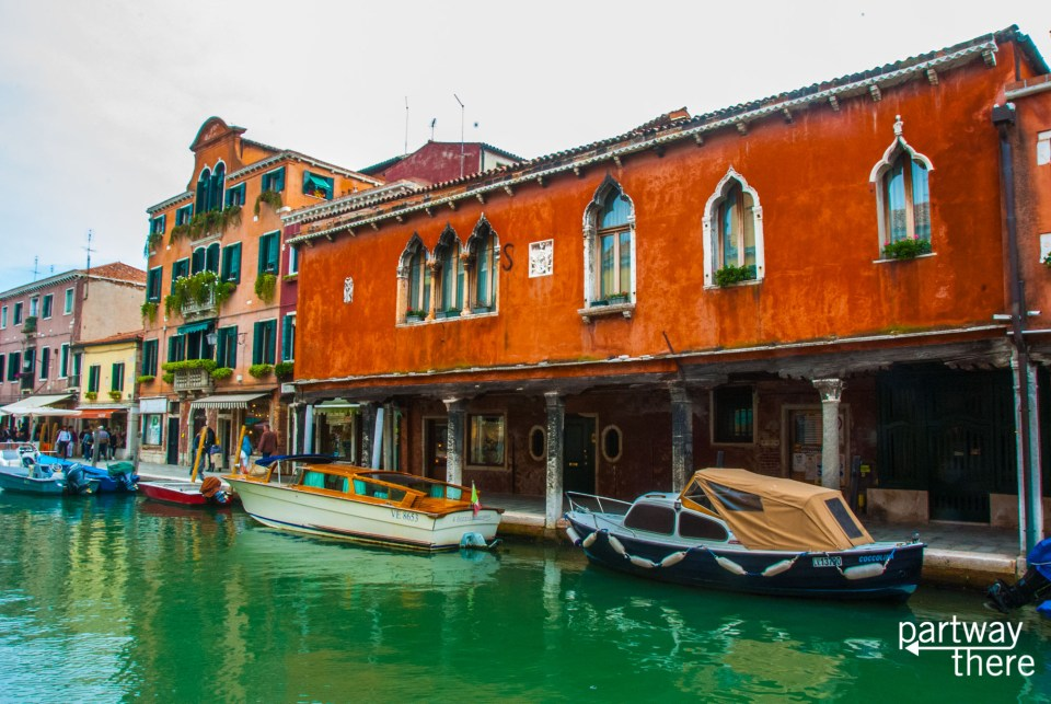 A canal in Murano