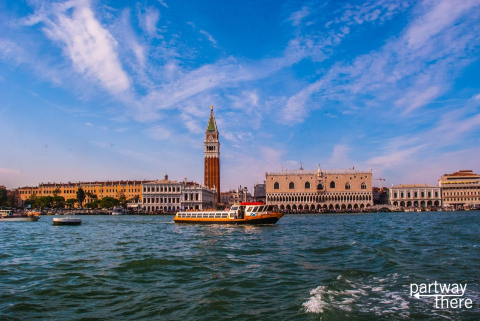 St Mark's Square in Venice taken from the water