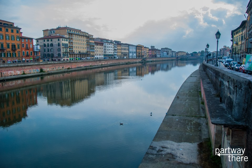 View of Pisa from the Arno River
