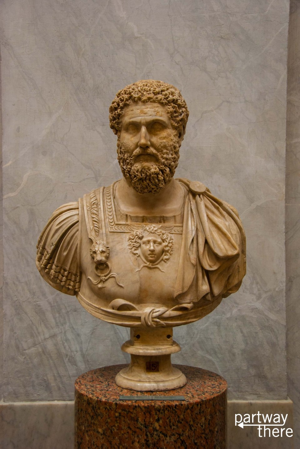 Hadrian statue at the Vatican Museums