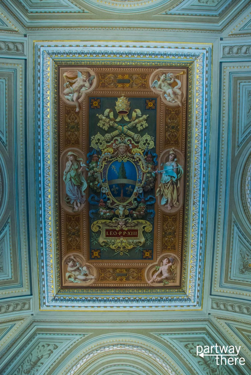 Ceiling in the Map Room at the Vatican Museums