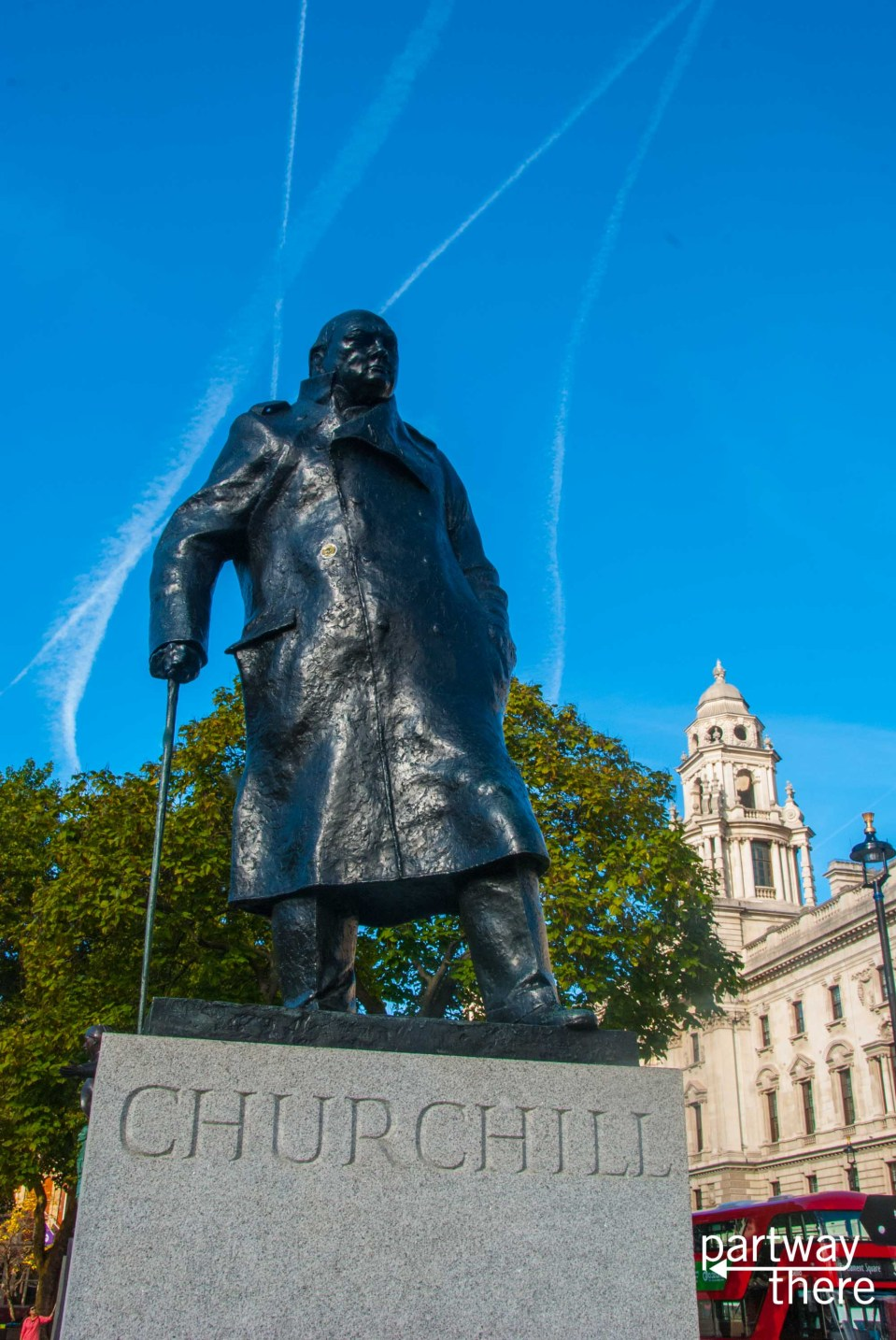Statue of Winston Churchill in Westminster, London