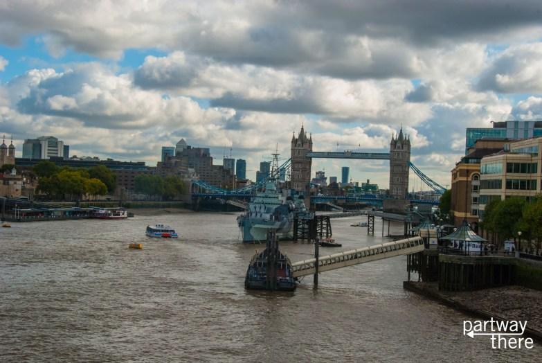 Thames and Tower Bridge taken from London Bridge