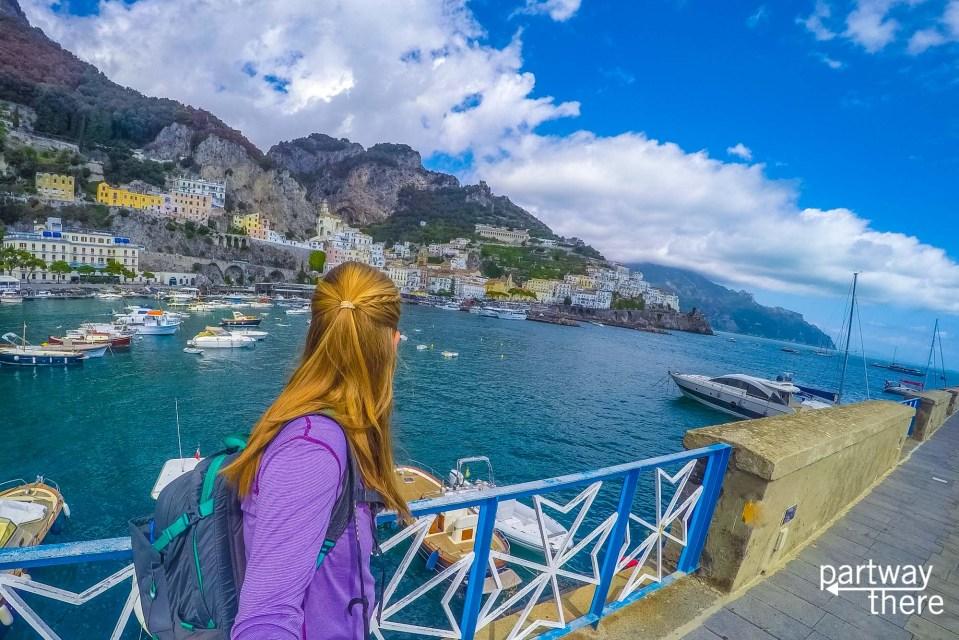 Amanda Plewes in Amalfi
