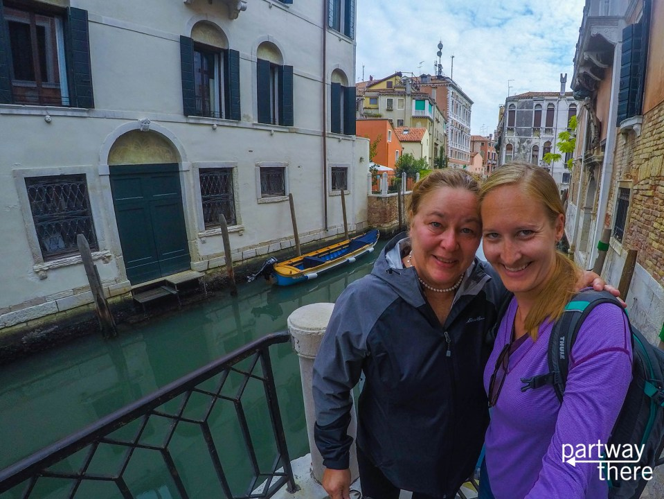 Amanda Plewes and Donna Plewes in Venice, Italy