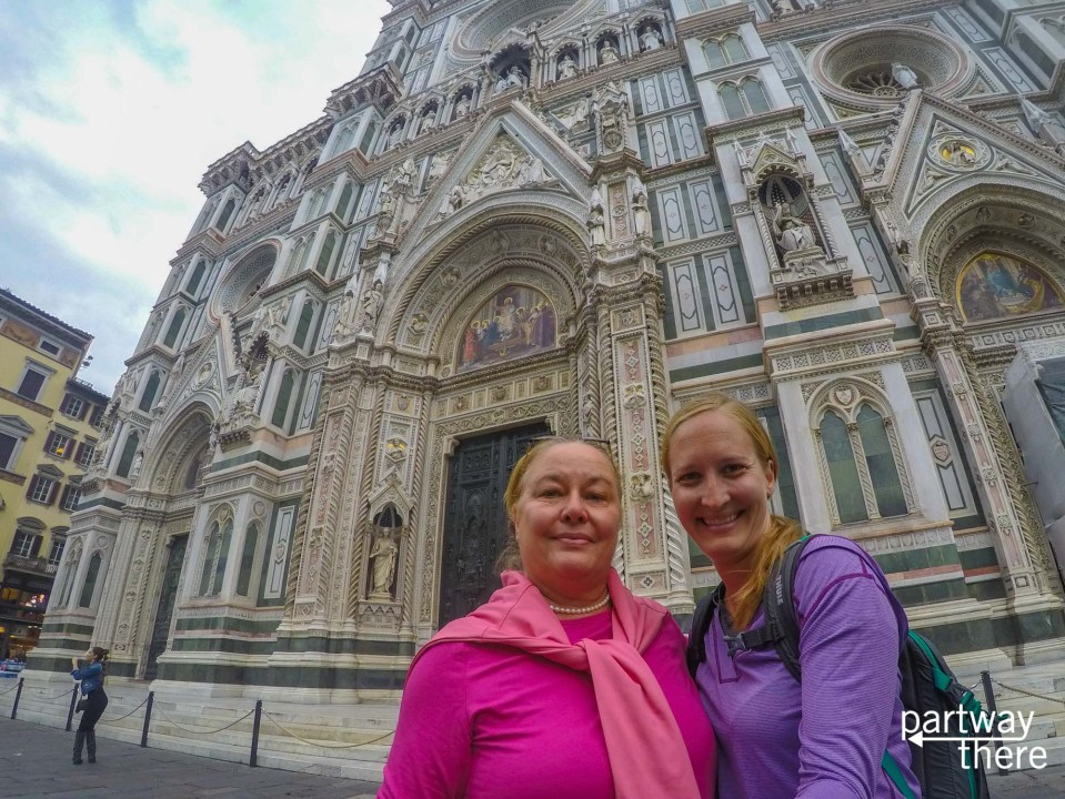 Donna Plewes and Amanda Plewes in front of the Florence Duomo