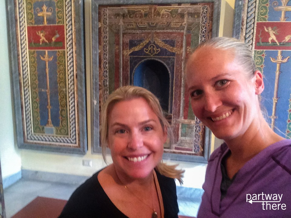 In front of the Pompeii Mosaics at the Naples Archaeological Museum
