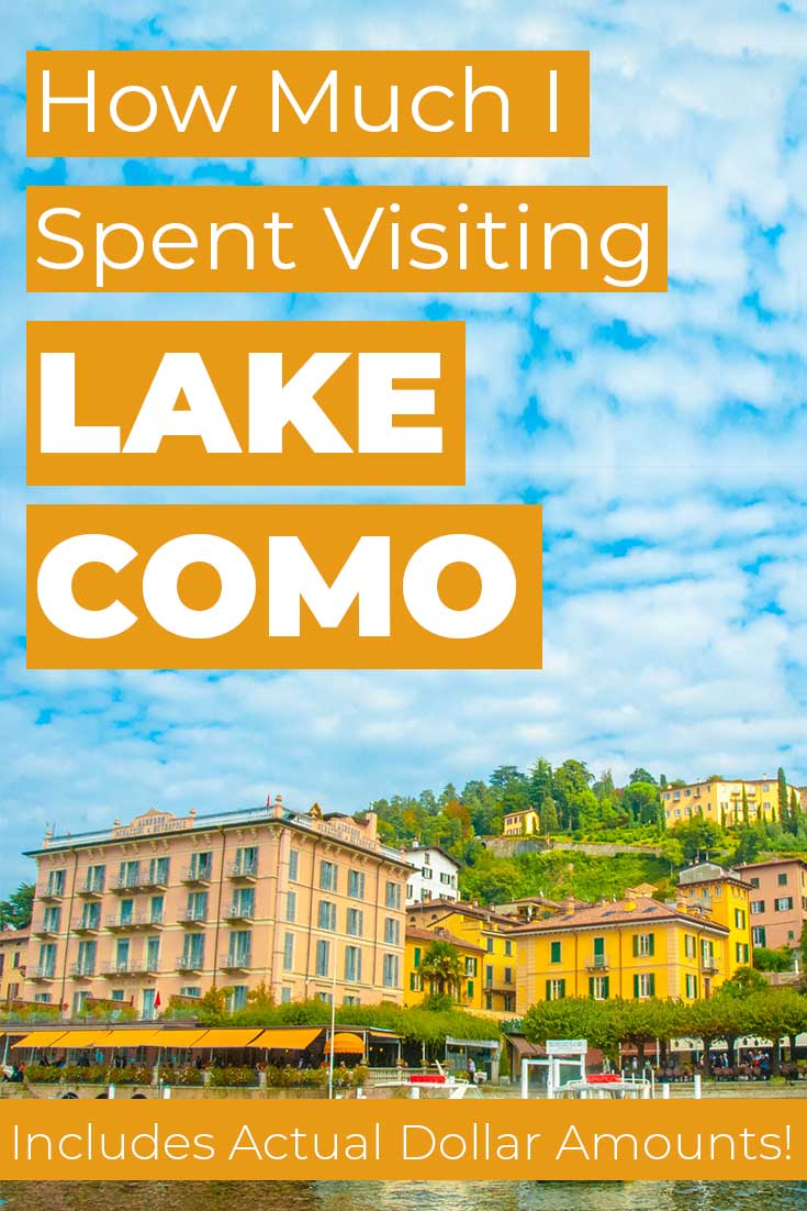 Costs to visit Lake Como, Italy