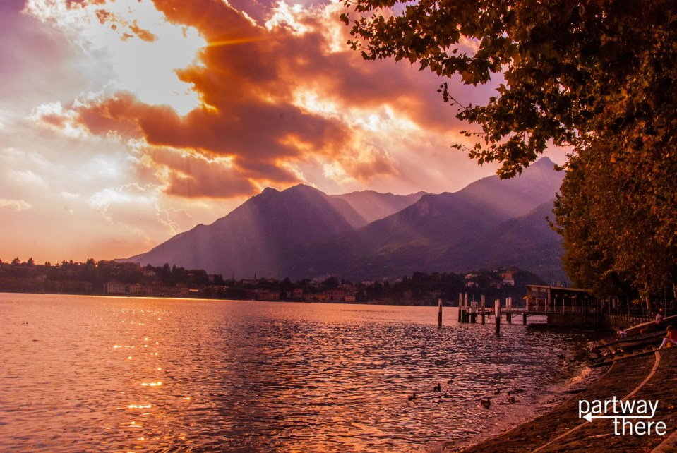 sunset in Lecco, Lake Como