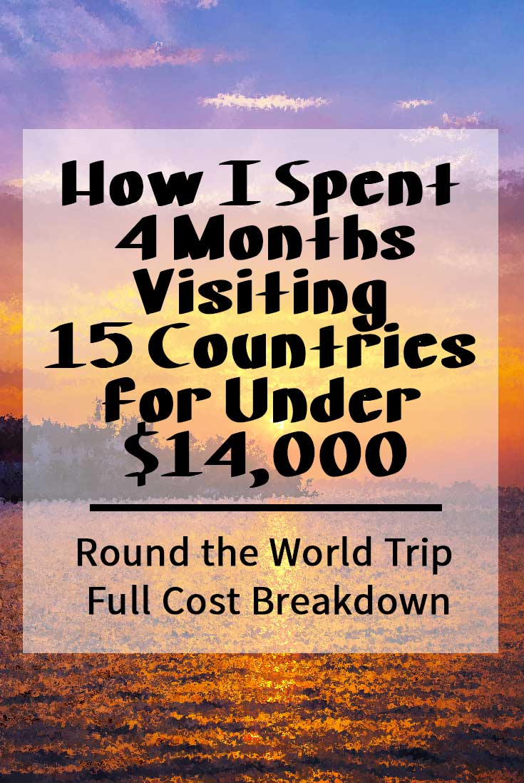 See how I spent four months visiting fifteen countries for less than $14,000.