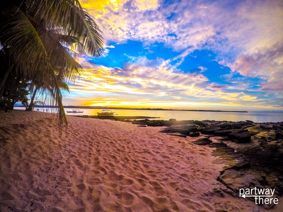 Sunset on the beach in Siargao, Philippines