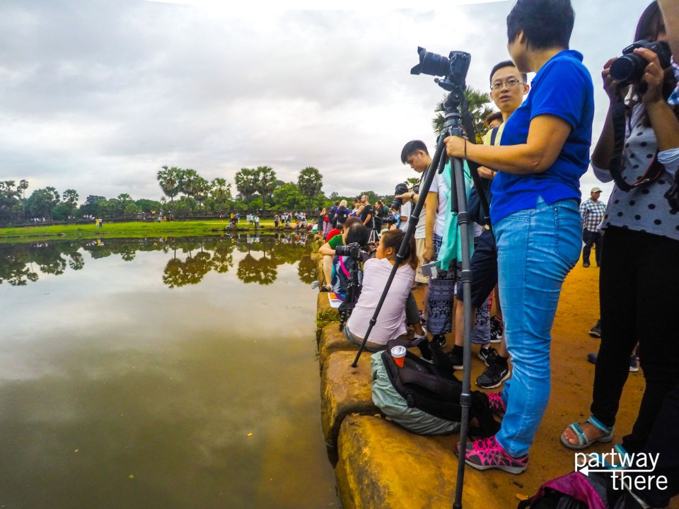 Crowds at Angkor Wat for sunrise