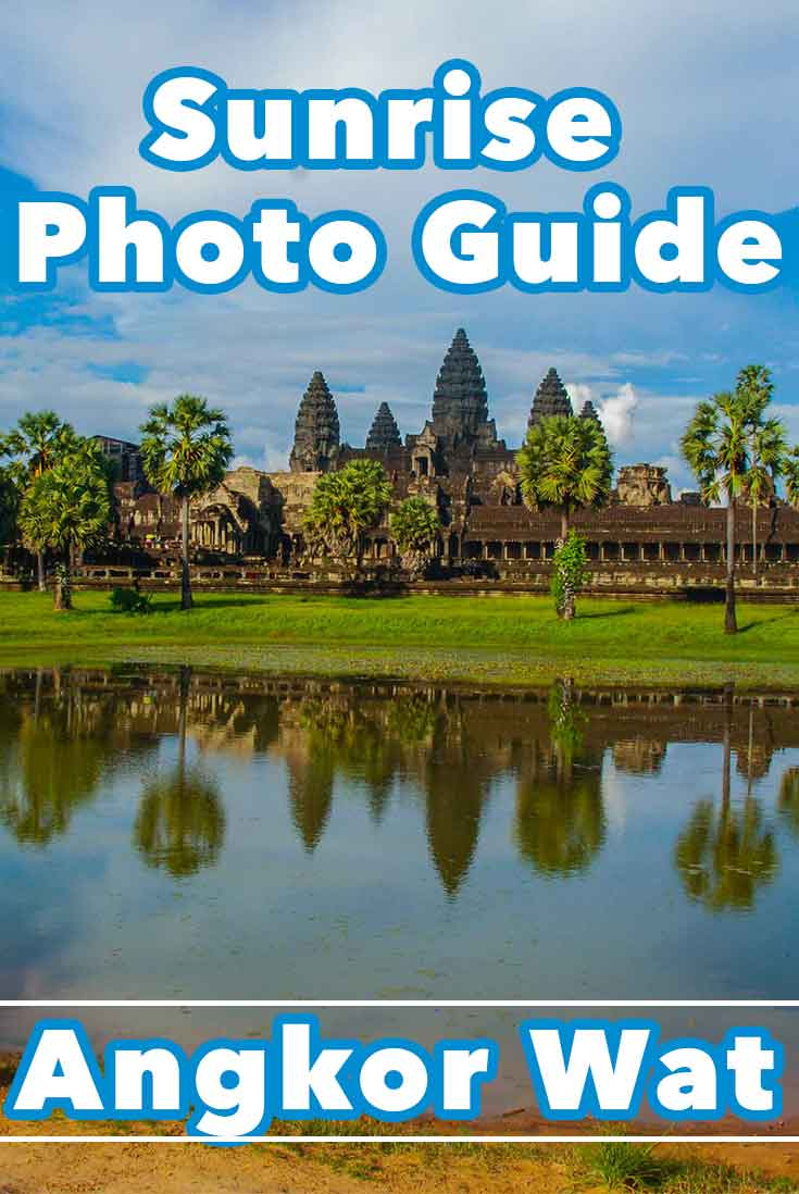 Picture of Angkor Wat at sunrise and sunrise photo guide