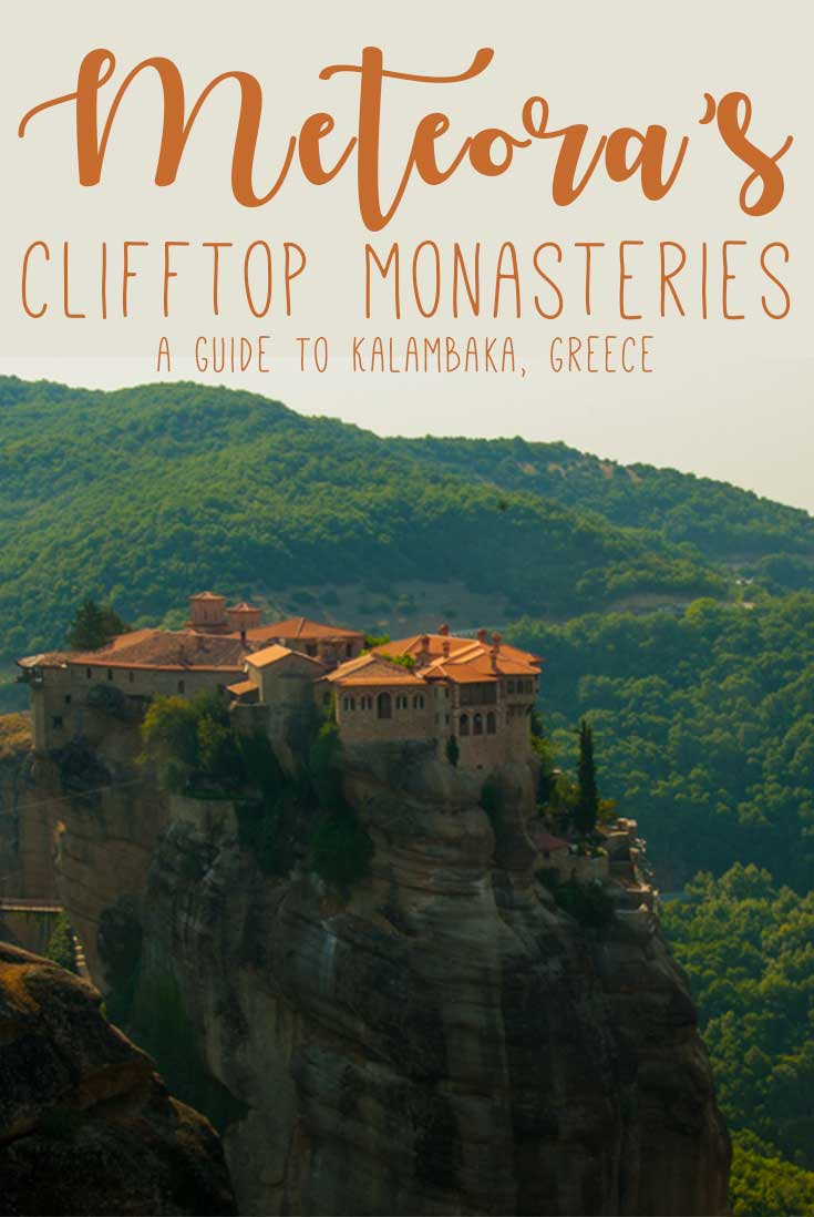 Meteora is where there are six monasteries on cliffs and it's a must-visit on mainland Greece.