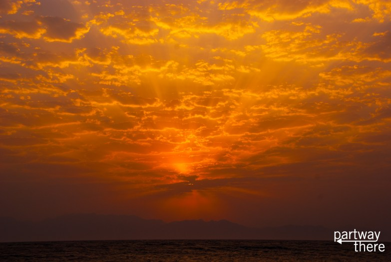 Sunrise over the Red Sea in Dahab, Egypt