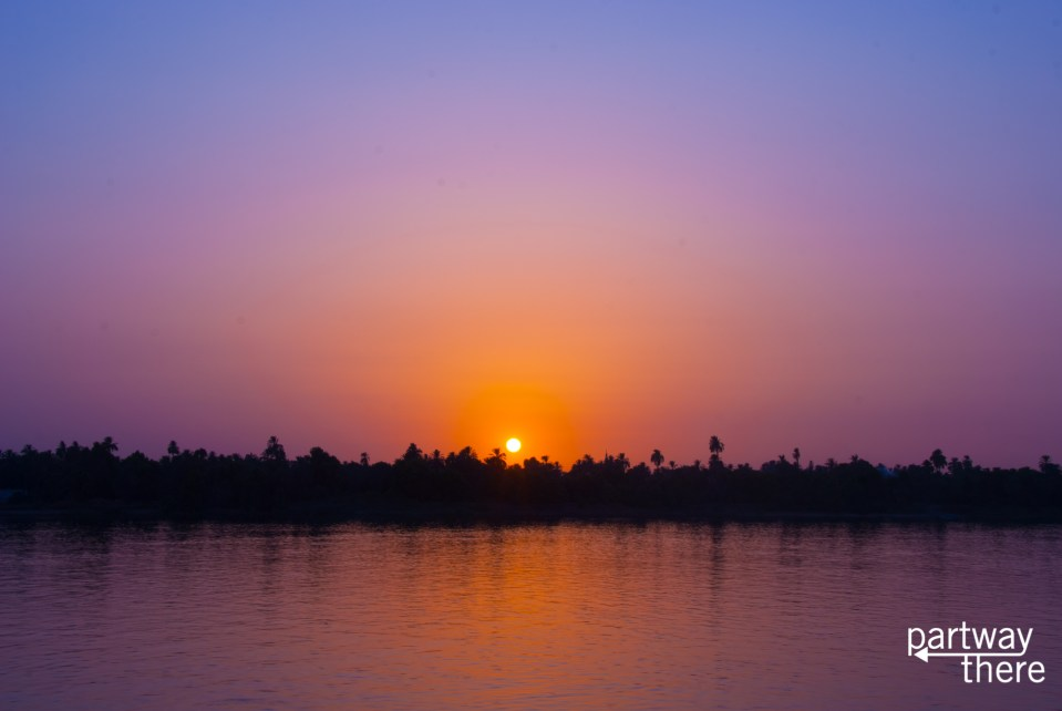 The Nile at sunset